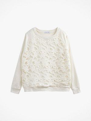 La Redoute Sweatshirt med enfärgat spetsmönster