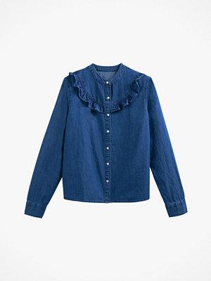 La Redoute Jeansskjorta med liten ståkrage och lång ärm