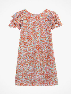 La Redoute Blommig klänning med kort volangärm