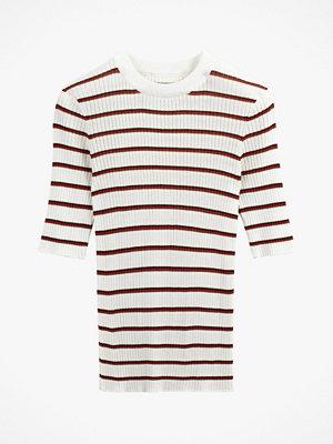 La Redoute Randig tröja i ribbat material med kort ärm