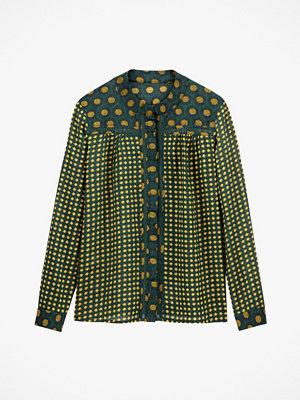 La Redoute Skjorta med ståkrage och prickmönster