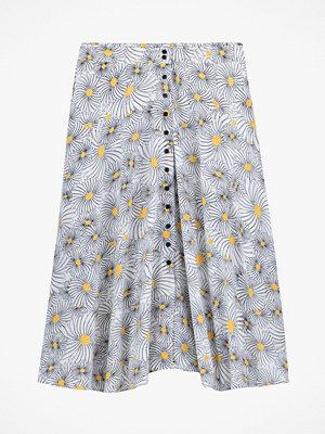 La Redoute Blommig kjol med knäppning