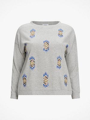 La Redoute Sweatshirt med pärlbrodyr och rund halsringning