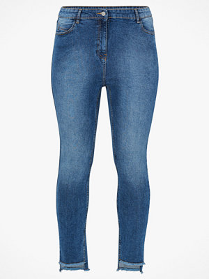 Jeans - La Redoute Slim jeans med råa kanter i benslut