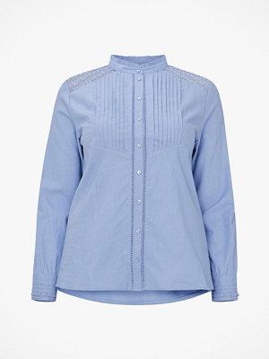La Redoute Blus i linneblandning med liten ståkrage och spets bak