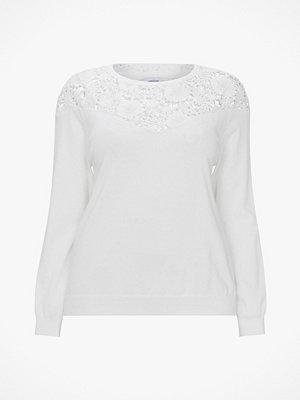La Redoute Finstickad tröja i bomullsblandning med rund halsringning