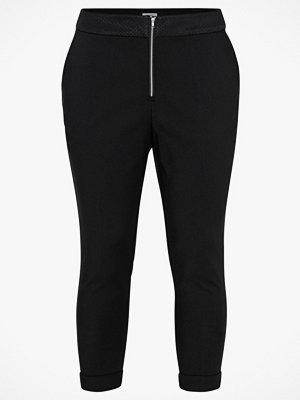 La Redoute svarta byxor Smal byxa med dragkedja fram och linning i nätmaterial
