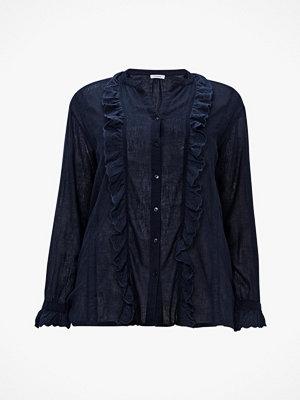 La Redoute Bomullsskjorta med volanger och lång ärm