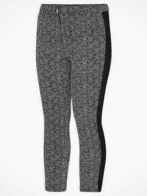 La Redoute svarta mönstrade byxor Smal, mönstrad byxa med band i sidan