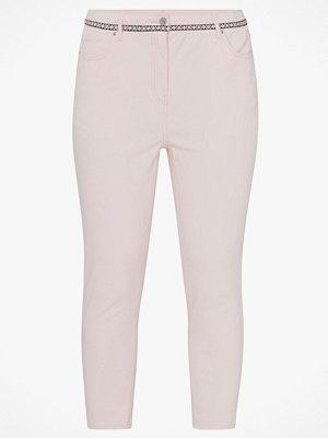 La Redoute Mom jeans med hög midja och dekorativ linning