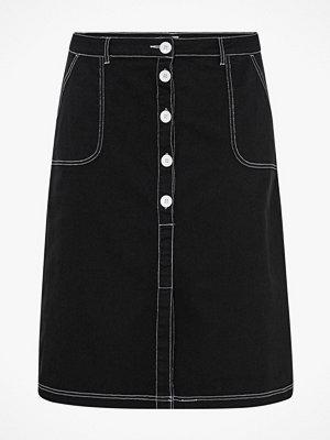 La Redoute Halvlång, rak kjol med knäppning