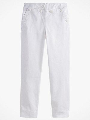 La Redoute vita byxor Byxa med dubbel knäppning och hög midja