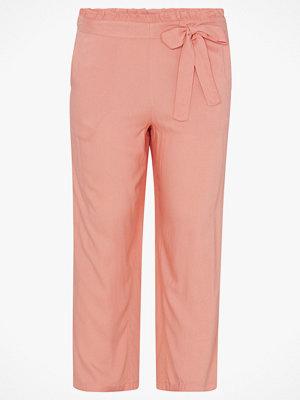 La Redoute persikofärgade byxor Vid byxa med hög midja