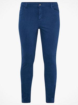 La Redoute marinblå byxor Smal byxa i 5-ficksmodell