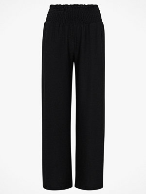 Pieces Byxor pcCurli HW Cropped Pants svarta
