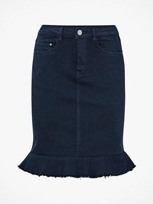 Vila Jeanskjol viCommit Peplum Denim Skirt