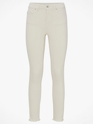 Only Byxor onlBlush Mid Skinny Ankle Raw Colour ljusgrå