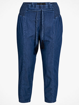 Zay Byxor yMerle Cropped Pant marinblå