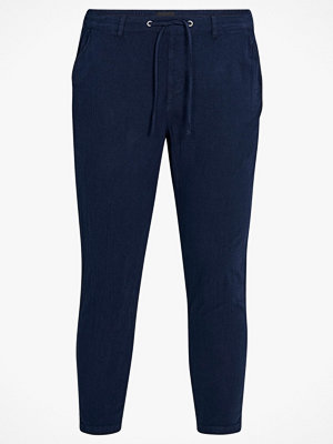 Zizzi Byxor mMarocco Cropped Pant marinblå