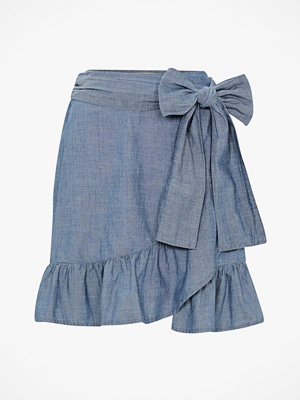 Vero Moda Volangkjol vmCita MR Chambray Wrap Skirt