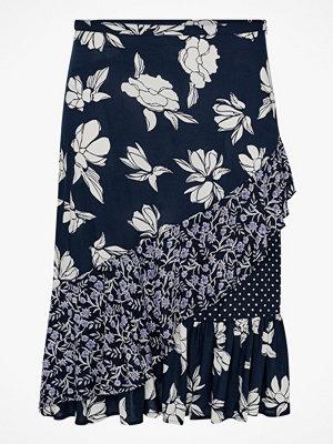 La Redoute Lång kjol med volanger och patchwork-mönster