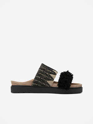 INUIKII Slippers Raffia Fringes