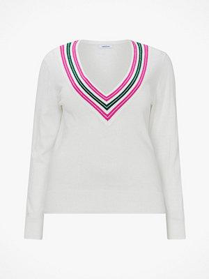 La Redoute Finstickad tröja med V-ringning