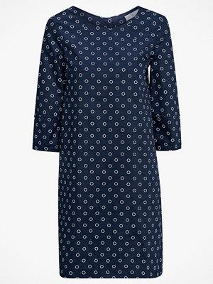 La Redoute Vid, halvlång klänning med prickmönster och trekvartslång ärm