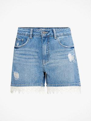 Shorts & kortbyxor - Jacqueline de Yong Jeansshorts jdyVera Rw Short With Lace Hem Box