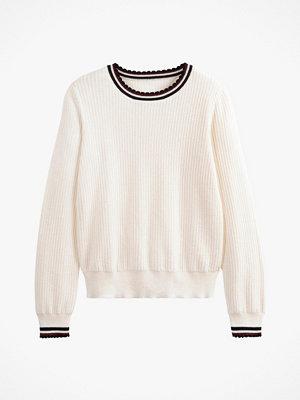 Tröjor - La Redoute Finstickad tröja med rund halsringning och sportiga detaljer