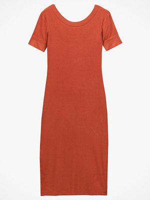 La Redoute Lång klänning i ribbad trikå