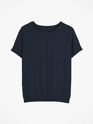 La Redoute Finstickad tröja med kort ärm