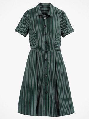 La Redoute Randig, halvlång skjortklänning med kort ärm