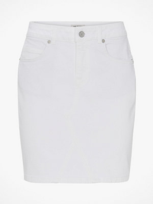 Selected Femme Jeanskjol slfMaya MW Denim Skirt White W