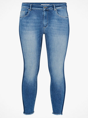 Only Carmakoma Jeans carWilly Ankle Raw Panel