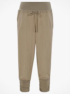 Cream Byxor Line Pants omönstrade