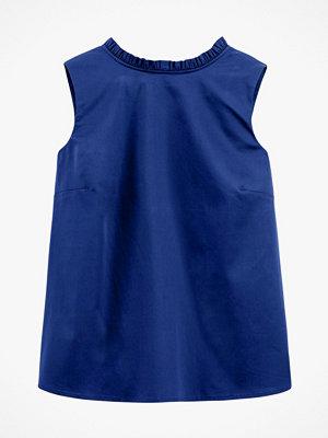 La Redoute Ärmlös blus med rund halsringning med volang