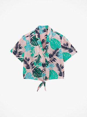 Skjortor - La Redoute Bladmönstrad skjorta med kort ärm
