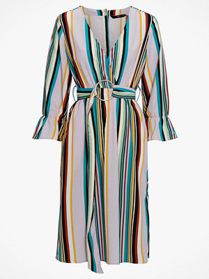Only Klänning onqBlair 3/4 Stripe Midi Dress