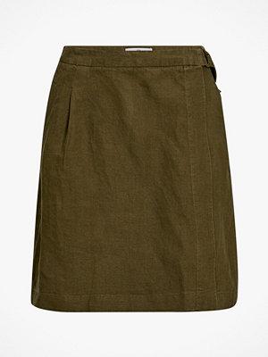 La Redoute Omlottkjol i linne med två fickor