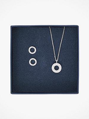 SNÖ of Sweden smycke Örhängen + halsband Belize Round Pendant Set