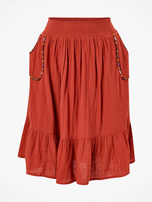 Kjolar - La Redoute Halvlång, utställd kjol med broderade detaljer