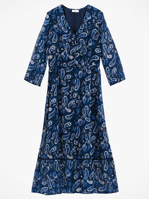 La Redoute Mönstrad maxiklänning med trekvartslång ärm