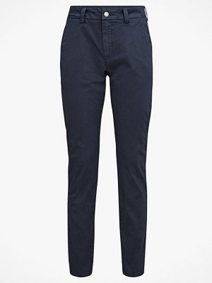 Selected Femme marinblå byxor Chinos slfMegan MW Tapered