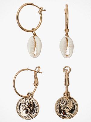 Joelle smycke Örhängen, set med 2 par olika
