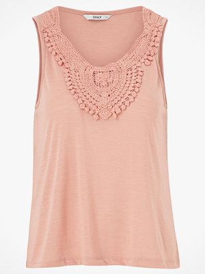 Only Topp onlIsa S/L Crochet Tank Top