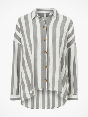 Skjortor - Only Skjorta onlAlta 3/4 S Overs Stripe Shirt York