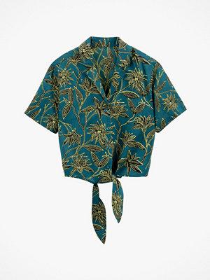 La Redoute Blommig skjorta med knytning i midjan
