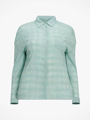 La Redoute Rutig, jacquardvävd skjorta i bomull med lång ärm