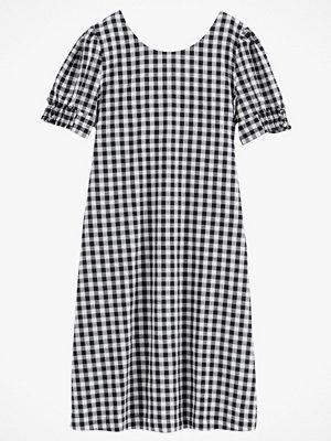 La Redoute Smårutig klänning i utställd, halvlång modell
